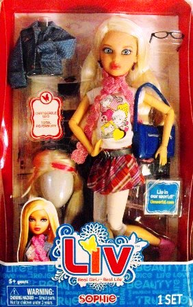 """Liv Real Girls-Real Life Sophie (Walmart Exclusive Edition Liv In Our World Sophie Play Set) """"Rare-Vintage"""" (2010)"""