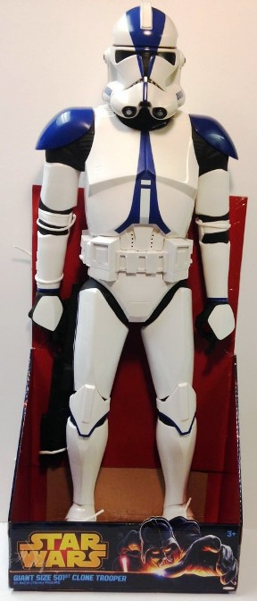 """Star Wars (Giant Size) 501st Legion Clone Trooper 31-Inch (Revenge of the Sith)-Star Wars Movie Figure """"Rare-Vintage"""" (2013)"""