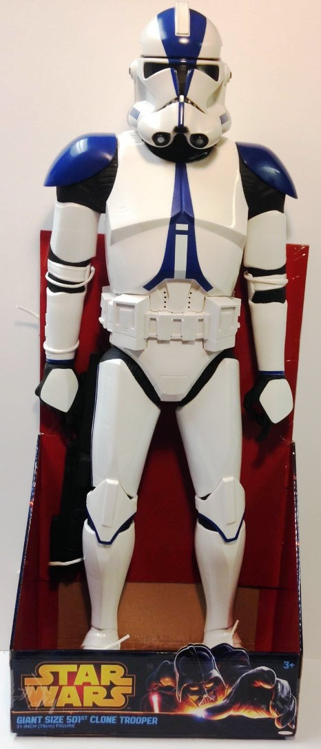 501st Legion Clone Trooper 31 Inch Giant Size Star Wars Tru Exclusive Blue Armor Revenge Of The Sith Movie Figure Rare 2013 Now And Then Collectibles