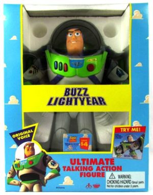 12 Buzz Lightyear Ultimate Talking 1st Issue yellow-Production Run 62809A-00 - Copy