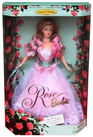 "Rose Barbie Doll Series (A Garden Of Flowers Collector Edition Series) ""Rare-Vintage"" (1999)"