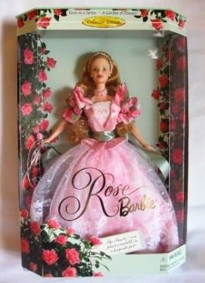 """Rose Barbie Doll Series (A Garden Of Flowers Collector Edition Series) """"Rare-Vintage"""" (1999)"""