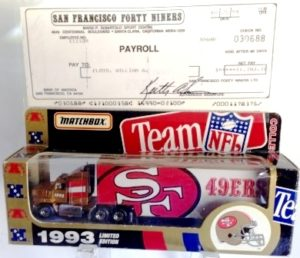 "Matchbox (TEAM NFL Transporters ""Exclusive & Limited Edition"" Collection) Diecast 1:64 Scale Series) ""Rare-Vintage"" (1993-1995)"