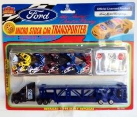 "Imperial Diecast Replicas (Micro Nascar-Ford Stock Cars/Transporter) ""Rare-Vintage"" (1997)"