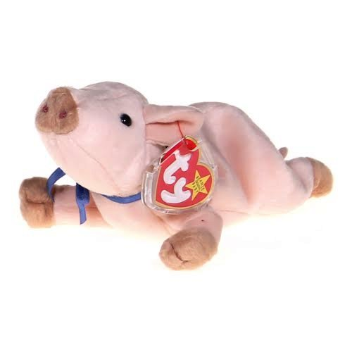 March 25th 1999 TY Beanie Baby Knuckles The Pig With Tag Retired   DOB