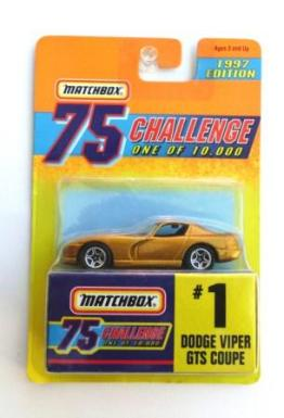"Matchbox 75 (Mattel ""Gold Challenge-Limited Edition"") Collectible Diecast 1:64 Scale Series) ""Rare-Vintage"" (1997)"