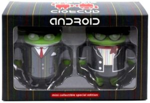 """Google Androids Set(""""Exclusive Mini Special Edition Android Collection Google Summits 2013"""") """"Rare-Vintage"""" (2013)"""