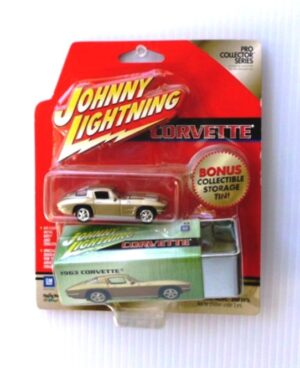"""Johnny Lightning Authentic Replicas """"Vintage Pro Collector Storage Tin (Limited Edition Series"""" 1/64 Scale Die-Cast Vehicles Collection) """"Rare-Vintage"""" (2000-2002)"""