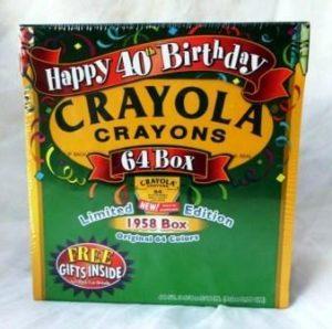 """Crayola Crayons """"Happy 40th Birthday"""" (1958-98 Original Box Set Exclusive Limited Edition) """"Rare-Vintage"""" (1998)"""