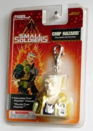 Small Soldiers (CHIP HAZARD) TALKING KEY CHAIN OPENED (1998)