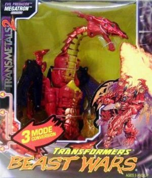 (Hasbro) 1999 Megatron Red Dragon TransMetals 2