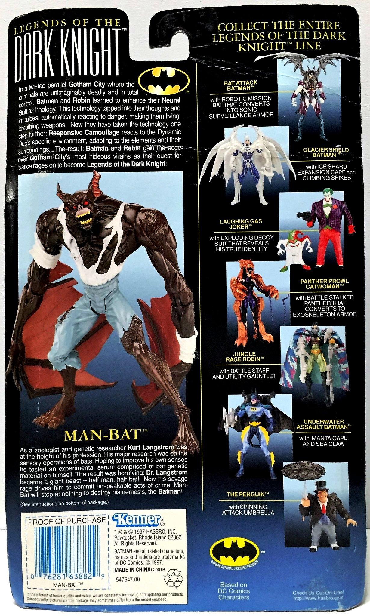 New in Box Legends of the Dark Knight Man-Bat Batman 1997 Kenner Figurine