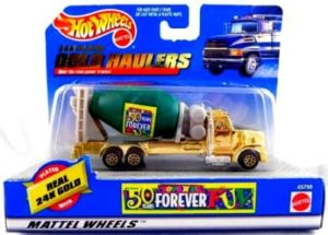 "Hotwheels (Haulers ""24k Plated Gold"") Toys R Us Exclusive 50 Years Forever Series (1:64 Scale Diecast Vehicles Collection) ""Rare-Vintage"" (1998)"