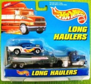 "Hotwheels (Haulers ""Long Cards 2-Pack"") Hotwheels 1:64 Scale (Diecast Vehicles Collection) ""Rare-Vintage"" (1998)"