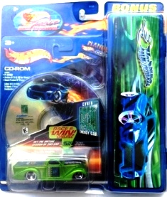 """HW (Cyber Energy Cars & CD-Archives) Hotwheels """"Race Back To School"""" Series 1:64 Scale Collection) """"Rare-Vintage"""" (2001)"""