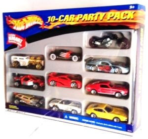 "Hotwheels (10 Car Party Pack) w/""Exclusive Car"" 1:64 Scale Diecast Vehicles Collection) ""Rare-Vintage"" (2001)"