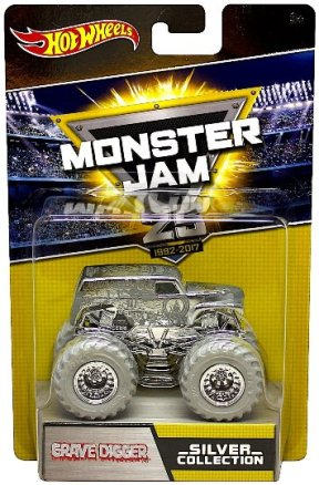 "HW (Monster Jam 25th Anniversary) ""Silver"" Limited Edition 1:64 Scale Collection Series ""Rare-Vintage"" (2017)"