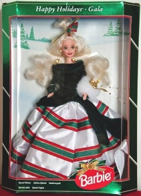 "Happy Holidays Barbie (Mattel ""Collector's & Limited Edition Holidays Series"") ""Rare-Vintage"" (1994-2016)"