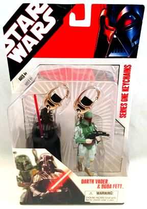 "Star Wars (2-Pack Series One Key Chains!) Star Wars: (Feature Film Movie Action Figures) ""Rare-Vintage"" (2007)"