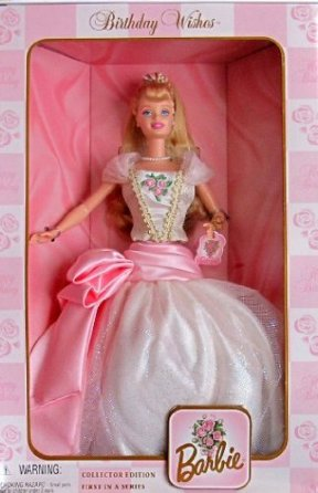 """Birthday Wishes Barbie (Birthday Wishes Series """"Collector Edition"""" Collection) """"Rare-Vintage"""" (1999)"""