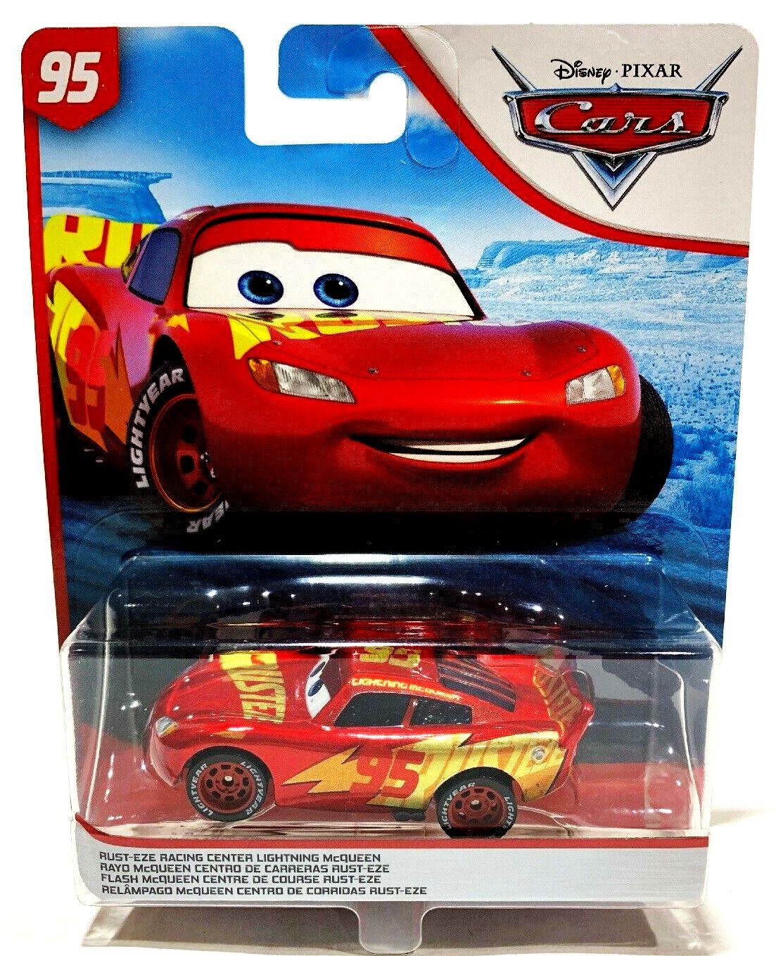 Rust Eze Racing Center Lightning Mcqueen 95 Matallic Red Gold