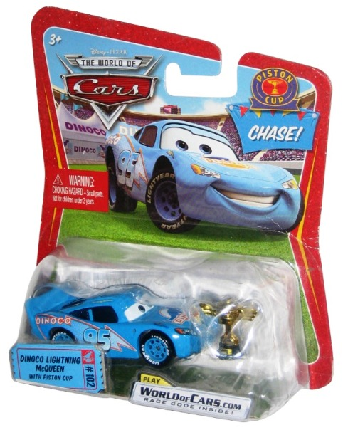 Dinoco Lightning Mcqueen Chase Ticket 102 W Piston Cup The World Of Cars Series 4 Disney Pixar Cars Movie Collectible Series Rare Vintage 2008 Now And Then