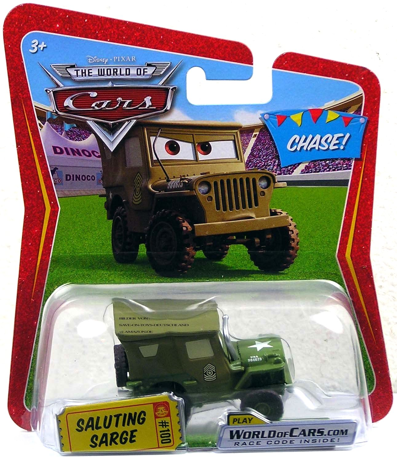 Saluting Sarge Chase Ticket 100 The World Of Cars Series 4
