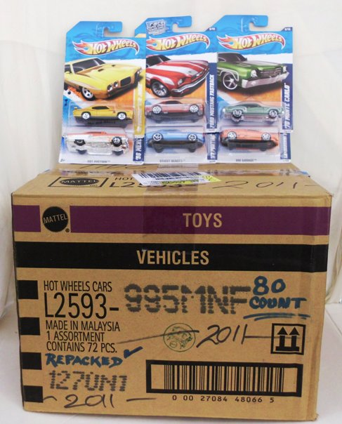 Hotwheels 2011 Case Special 80-pc Repacked Case-A (1) - Copy