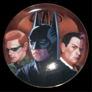 "Batman Forever ""Limited Edition Collector Plates"" (The Movie w/Val Kilmer/Jim Carrey/Tommy Lee Jones) ""Rare-Vintage"" (1995)"
