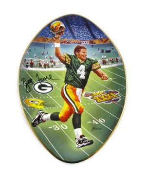 "Brett Favre Collector Plate (""Back To Titletown"") Bradford Exchange NFL Superbowl XXXI Vintage Series ""Rare-Vintage"" (1997)"