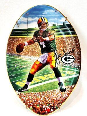 "Brett Favre Collector Plate (""Leader Of The Pack"") Bradford Exchange NFL Superbowl XXXI Vintage Series ""Rare-Vintage"" (1997)"