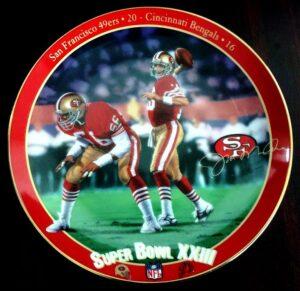 "Joe Montana Collector Plate (""King Of Comebacks"") Bradford Exchange NFL Superbowl XXIII Vintage Series ""Rare-Vintage"" (1994)"