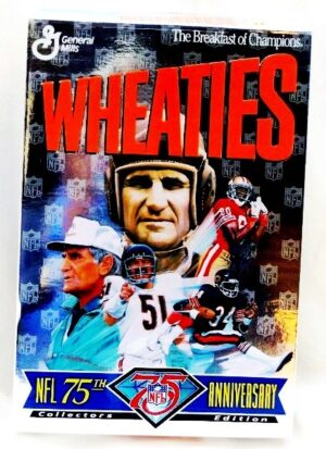 "Wheaties Box ""NFL 75th Anniversary Collectors Edition Cereal Box"" (The Breakfast Of Champions-General Mills) ""Rare-Vintage"" (1995)"