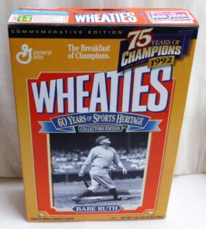Babe Ruth Empty Box(75 Years Of Champions! Wheaties) (0)