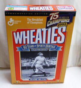 Babe Ruth Empty Box(75 Years Of Champions! Wheaties) (2)