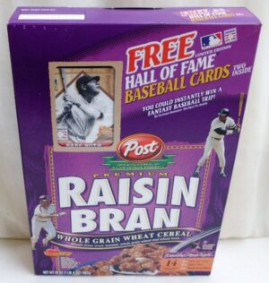Babe Ruth Empty Box(H Of F Baseball Card! Post Raisin Bran) (0)