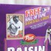 Babe Ruth Empty Box(H Of F Baseball Card! Post Raisin Bran) (3a)