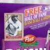 Babe Ruth Empty Box(H Of F Baseball Card! Post Raisin Bran) (3b)