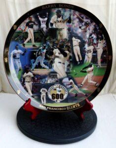 Barry Bonds 600 Home Run Collectors Plate (2)