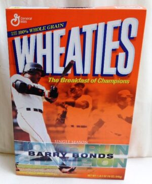 Barry Bonds Empty Box(Single Season Home Runs Champ! Wheaties) (0)