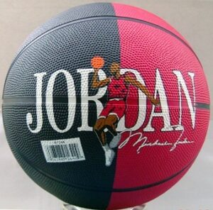 Michael Jordan #23-(Autographed Men's Basketball)-Red/Blk) 1998