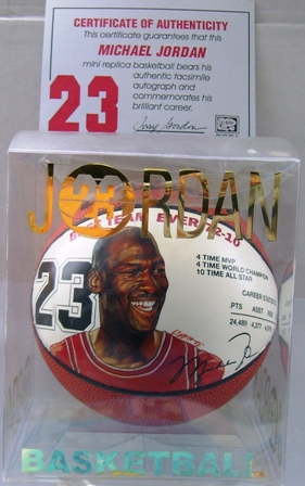 Michael Jordan #23-(Best Team Ever 72-10) Mini Basketball (1998)...