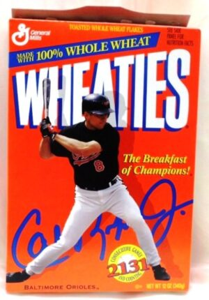 "Wheaties MLB Cal Ripken Jr 2131 Box ""Consecutive Games-Baltimore Orioles Collectors Cereal Box Edition"" (Wheaties-General Mills) ""Rare-Vintage"" (1996)"