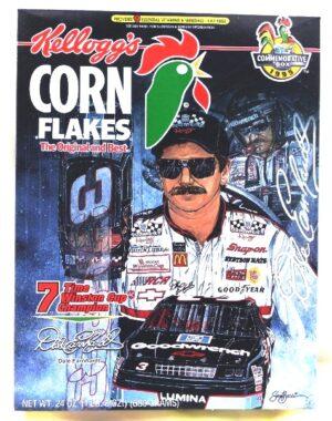 """Kelloggs Box """"Dale Earnhardt #3 Commemorative Edition Cereal Box"""" (Kellogg's Corn Flakes) """"Rare-Vintage"""" (1995)"""