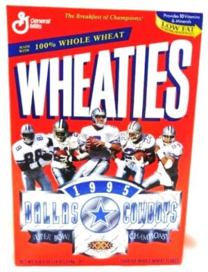 "Wheaties Super Bowl XXX ""Dallas Cowboys 1995 Superbowl Champions! Collectors Cereal Box Edition"" (Wheaties-General Mills) ""Rare-Vintage"" (1996)"
