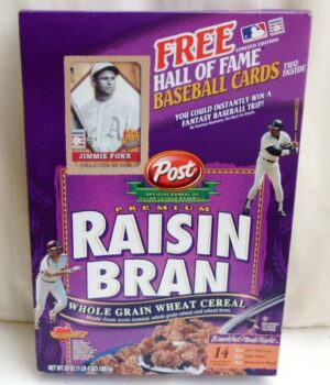 Jimmie Foxx Empty Box(H Of F Baseball Card! Post Raisin Bran) (0)
