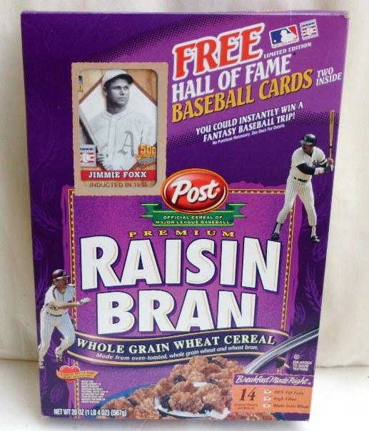 Jimmie Foxx Empty Box(H Of F Baseball Card! Post Raisin Bran) (0)