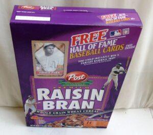 Jimmie Foxx Empty Box(H Of F Baseball Card! Post Raisin Bran) (3)