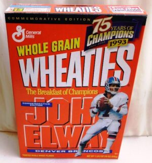 John Elway #7 NFL (75 Years Of Champions) Wheaties (0)