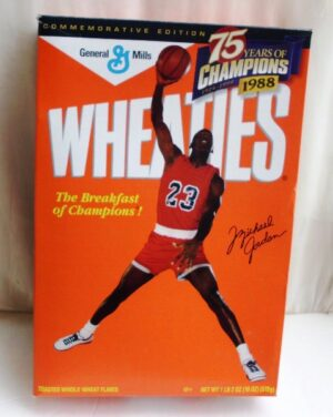 Michael Jordan Empty Box(75 Years Of Champions! Wheaties) (0)